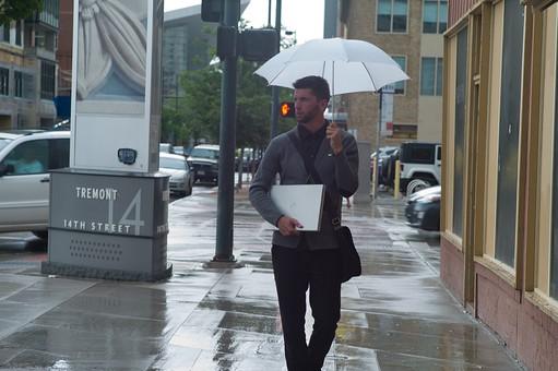 雨の日の出勤