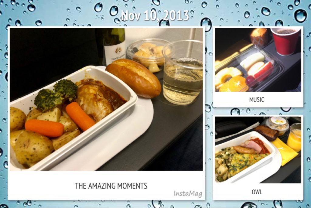 カンタス航空の食事 行き
