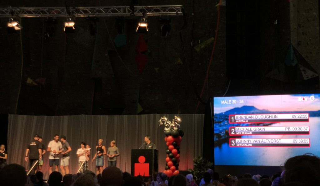 IRONMANニュージーランドの表彰式