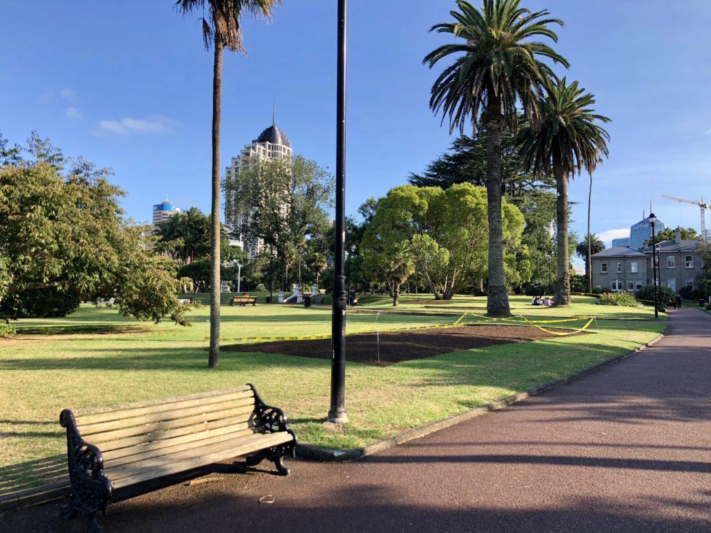 アルバート公園の広場